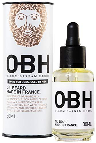 Der beste aller natürlichen Premium-Bartöl-Conditioner für Männer von OBH ® ● Heldenhafter Bartwuchs und Pflege aus der Natur ● Duft- und Verkaufsschlager ● Made in France