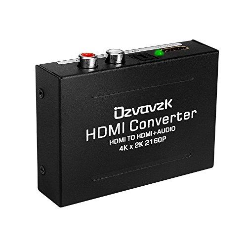 HDMI Audio Konverter 4K,Ovzavzk HDMI zu HDMI + Optisch SPDIF/Toslink RCA L/R Stereo Audio Konverter Converter Adapter unterstützt 4K 3D, 1.4 Version
