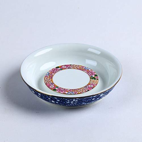 SGYD 200 ml Jingdezhen Blau und weiß Porzellan Teekanne Emaille Farbe Keramik Kaffee Wasserkocher Chinesischen Tee-Set brauen Tee Maker Topf Tee Trays-C (Kaffee-topf-tray)