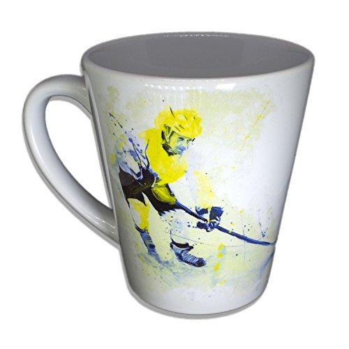 Eishockey - Handarbeit Designer Tasse aus brillanten Porzellan Unikat - Tasse, Becher, Kaffeetasse,...
