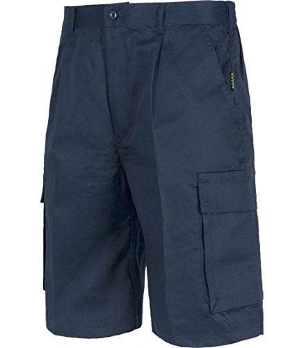 Teamwork Pantalones Cortos con Cintura elástica. Bermudas de Hombre Multi Bolsillos Azul Marino, 50...