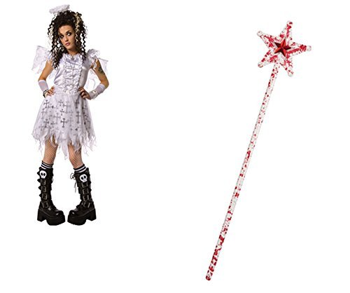 Kid Angel Dark Kostüm - Gotische Zombie blutige Stern Fairy Wand