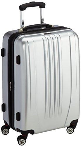 Packenger Premium, valise à roulettes, coque dure Stone, taille L en argenté. 70x47x27,5 cm