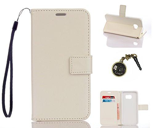 Preisvergleich Produktbild für Smartphone Samsung Galaxy S7 Edge Hülle, Klappetui Flip Cover Tasche Leder [Kartenfächer] Schutzhülle Lederbrieftasche Executive Design +Staubstecker (1DD)