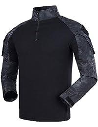 FY Maglia Combat Shirt Militare Verde Camicia Tattica Airsoft Militare Uomo  BDU Camicia Tactical Manica Lunga 94658c9f6a0
