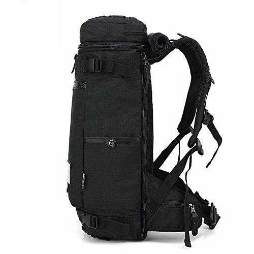 Reiserucksäcke, Fresion Wasserabweisend Tasche Multifunktionaler Rucksack Trekkingrucksäcke für Herren Damen Wandern Reisen (Oxford Schwarz) Black