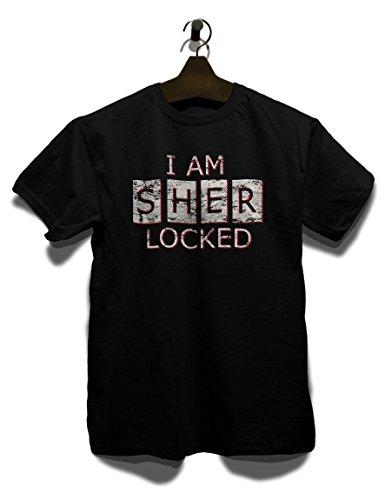 I Am Sherlocked Vintage T-Shirt Schwarz
