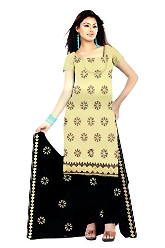 Jiya Cotton Partywear Unstiched Yellow Salwar Suits /Suit for Women Clothing Designer...
