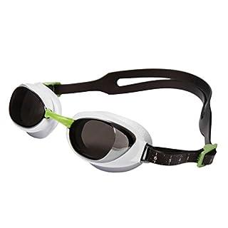 Speedo Aquapure Mirror Adult Goggle, White, One Size