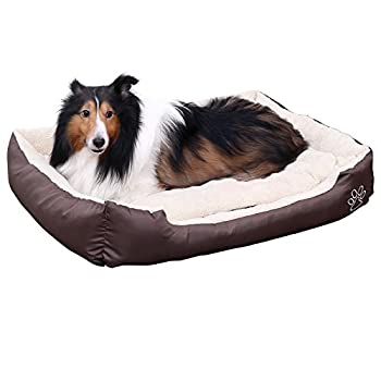 Songmics L Panier Lit Pour Chien Dog Bed Coussin Matelas, 60 x 48 x 15 cm PGW02Z