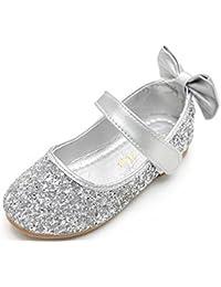 b6de6e938ab8 WUIWUIYU Fille Chaussures Ballerine avec Paillettes Brillants Respirable  Comfortable