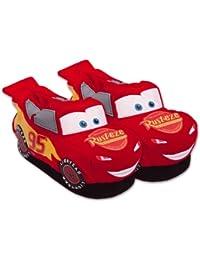 United Labels - 0805683 - Plüsch-Pantoffeln 3-D - Disney Cars - Lightning McQueen - Größe, 33-36