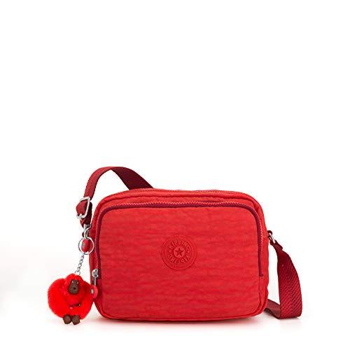 Kipling Silen, Sacs bandoulière femme, Rouge (Active Red)