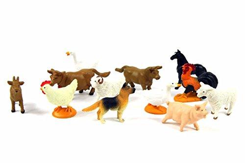 12x Bauernhoftiere Tierfiguren Haustiere Miniblings Tiere Farmtiere Bauernhof