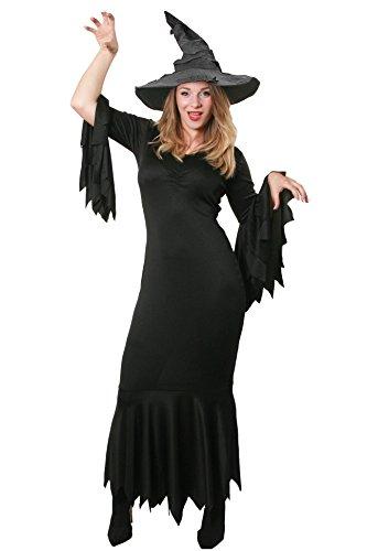 ILOVEFANCYDRESS HEXEN ZAUBERIN MAGISCHE =Gothic Kleid +GRAUEM HEXEN Hut= Halloween Fasching Karneval KOSTÜM VERKLEIDUNG =7 VERSCHIEDENEN GRÖSSEN=Hut MIT DRAHT VERSTÄRKT FÜR BESSEREN Sitz=Large (Der Zauberer Von Oz Kostüm Frauen)