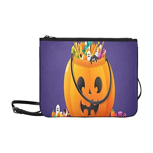 rbis Korb voller Süßigkeiten Süßigkeiten benutzerdefinierte hochwertige Nylon dünne Clutch Crossbody Tasche Umhängetasche ()