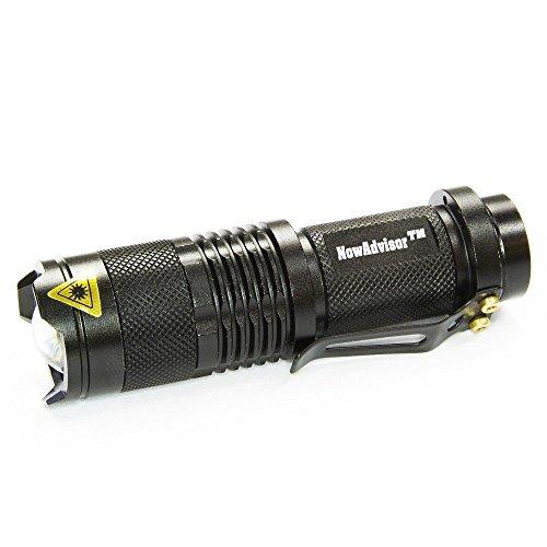 Lampe Torche, NowAdvisor Mini 7W 300LM CREE lampe de poche LED Mise au point réglable Zoom Light