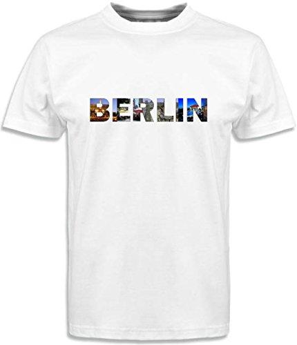 T-Shirt mit Städtenamen Berlin Weiß