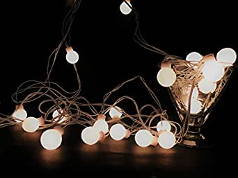 Glimmer Lightings Made In India Elegant Small Ball String Lights Diwali Special Home Decoration Gifts Rice Copper Wire Lights