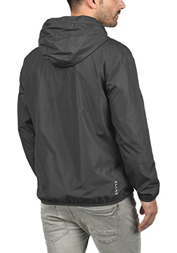 Blend Zubaru Herren Windbreaker Regenjacke Übergangsjacke Mit Kapuze, Größe:M, Farbe:Phantom Grey (70010) - 3