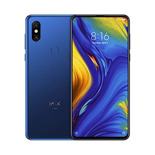 Xiaomi Mi Mix 3 - Smartphone de 6.39' (4G, Octa Core Qualcomm SD845 2.8 GHz, RAM de 6 GB, Memoria de 128 GB, cámara Dual de 12+12 MP, Android) Color Azul Zafiro