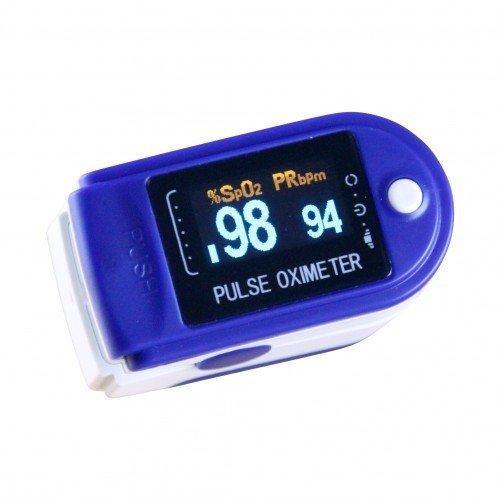 Pulsoximeter CMS 50 D - verschiedene Farben - viel Zubehör (Blau)