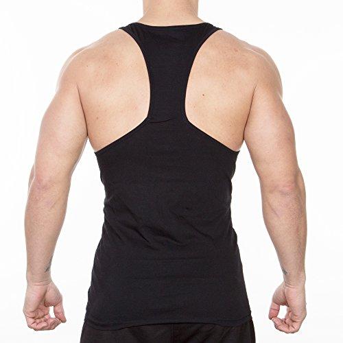 SMILODOX Stringer Herren | Muskelshirt mit Aufdruck für Sport Gym Fitness & Bodybuilding | Muscle Shirt - Tank Top - Unterhemd - Achselshirt - Trainingshirt Kurzarm Schwarz