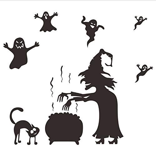 (Happy Halloween Party Ghost Home Haushalt Zimmer Wandaufkleber Wandbild Decor Aufkleber Removable Kunst Wohnkultur)