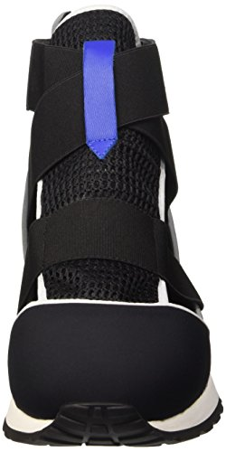 Bikkembergs Kate 652 M.Shoe Cut Out W Lycra/Leather, Sneakers Hautes Femme Noir (Black/Blue)