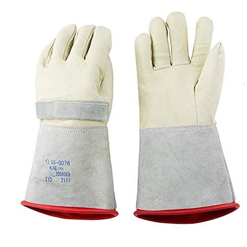 Plus Nahtmaterial (FTFTFTF Schutzhandschuhe, Isolierhandschuhe Externe Schutzhandschuhe Live Working Electric Schweißen Arbeitstemperaturbeständigkeit,1)