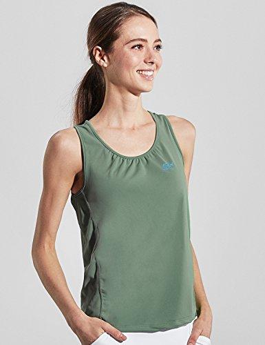 Sportkind Mädchen & Damen Tennis/Fitness/Running Loose Fit Tanktop, olivgrün, Gr. XXXL