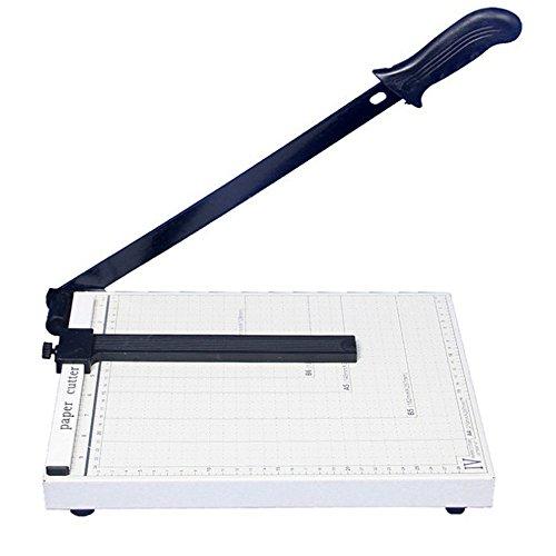 A4 Papierschneider,A4 Papier und Foto Schneidegerät,Professionelle Schneidemaschine Für B4, A4, B5, B6, B7,Für Home Office, Weiß
