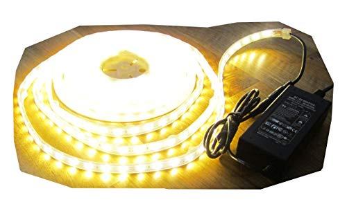 SET 2500 Lumen 10m Led Streifen 600 LED warmweiß warm weiß wasserfest IP65 inkl. Netzteil 24V Pro-Serie TÜV/GS geprüft von AS-S