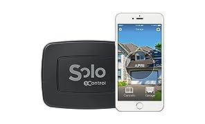 1Control SOLO, Apricancello Bluetooth 4.0 per Smartphone per Cancelli e Porte Garage Controllati da Radiocomando, Nero