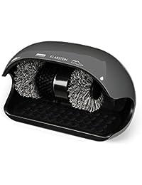 Klarstein ShoeButler Limpiador de Zapatos • Máquina limpiabotas automático • Abrillantador de Zapatos • 120 W • Sistema de 3 cepillos • Apagado Tras 15 Segundos • Gris