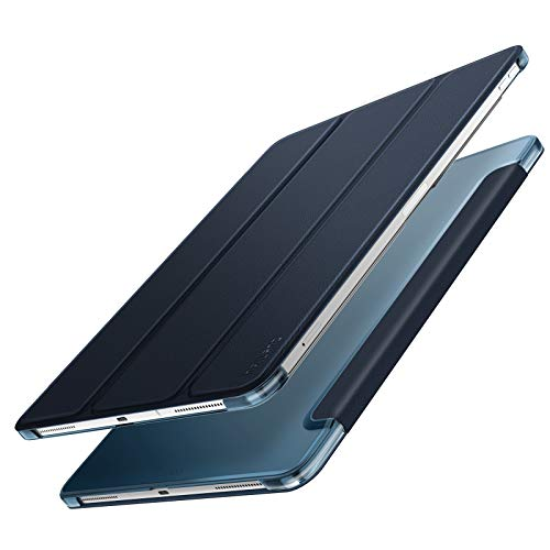 Infiland iPad Pro 12.9 2018 Hülle Case, Superleicht Transluzent Smart Schutzhülle Case mit Auto Schlaf/Wach Funktion für iPad Pro 12.9 2018(Unterstützt Das Aufladen des Apple Pencil),Dunkleblau