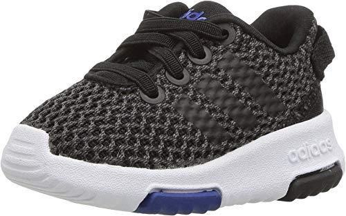 adidas Performance NEO Girls' Racer TR Inf Sneaker,Carbon/Core Black/Collegiate Royal,6 M US Toddler