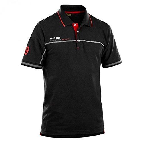 Blakläder Logoshirt Pique 3327 schwarz/red