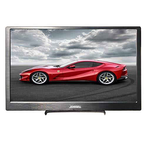 JOHNWILL 13,3-Zoll-tragbarer Monitor voller HD IP 1920x1080 Metallgehäuse schlanker CNC HDMI/USB-Lautsprecher, Spielmonitor, PS4