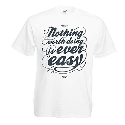 Männer T-Shirt Motivationszitate für das Leben - Vintage Inspirational Lustige Sprüche (XXXX-Large Weiß Mehrfarben) J Cole Kleidung