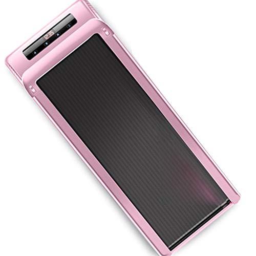 MMSZFitness Laufband Elektrisch für Zuhause,Mit Smart APP mit Fernbedienung- Mini-Laufband Kompakt Verstaubar,Energiesparender Wenig Lärm Motor,Belastbarkeit bis 120 kg,Pink