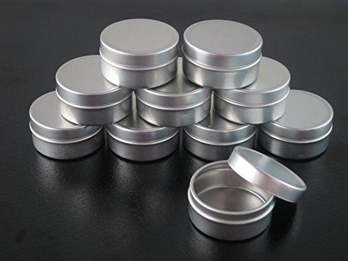 Image of Groupcow 10Stk 10ml Blechdosen Aluminium Leer Döschen Creme Dosen Tiegel Für Kosmetikum
