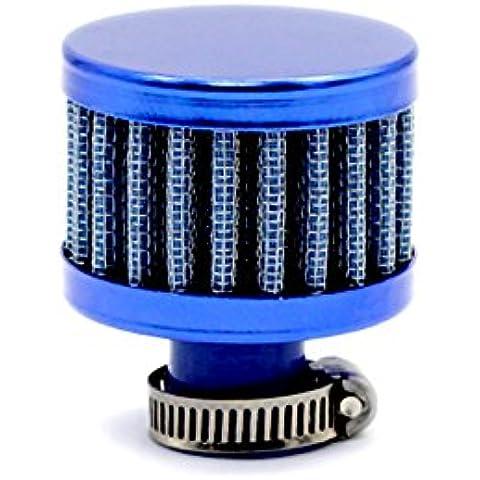 rybyte (TM) Universal coche frío toma de aire Filtro de aire auto Mini 12mm tapa de la válvula reutilizable frío Vent del respiradero del cárter de aceite Catch cono estilo