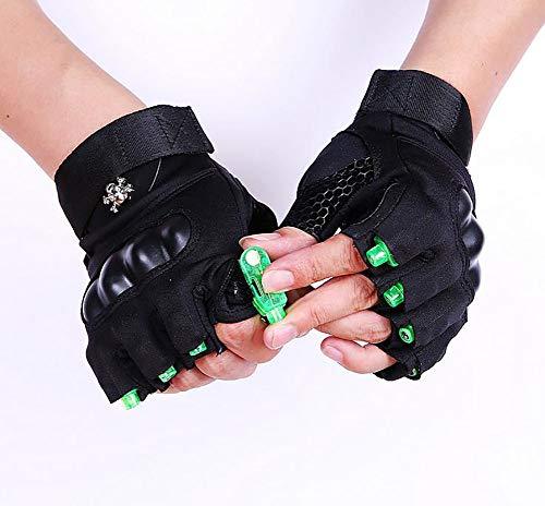GUANGBO LED-Handschuhe Angeln Handschuh Fitness Handschuh Nachtfischen Laser Rotes Licht Grün Weißes Licht Beleuchten Straßentanz Handschuh