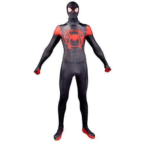 3D-Druck Spiderman Kleine Schwarze Spinne Cosplay Einteilige Strumpfhose Avengers Set Halloween Charakter Performance Kostüme (Kopfbedeckung Kann Getrennt ()