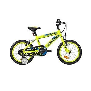 """Atala Bicicletta da Bambino Splash 16"""", 1 velocità, Colore Giallo Neon - Blu"""
