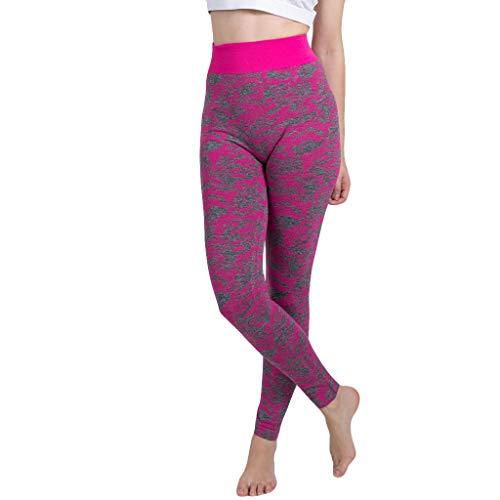 Yogahosen Camouflage Damen Nahtlose Frauen gestrickte Yogahosen Hose mit Nahtloser Hose Gamaschen Elastische Hose Hohe Taille Capris Sporthosen Große Größen (Herren Yoga-socken Größe Xl)