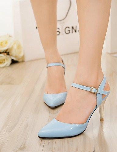 UWSZZ IL Sandali eleganti comfort Scarpe Donna-Sandali / Scarpe col tacco-Tempo libero / Formale / Casual-Tacchi / A punta-A stiletto-Finta pelle-Nero / Blu / Rosa / Rosso Blue