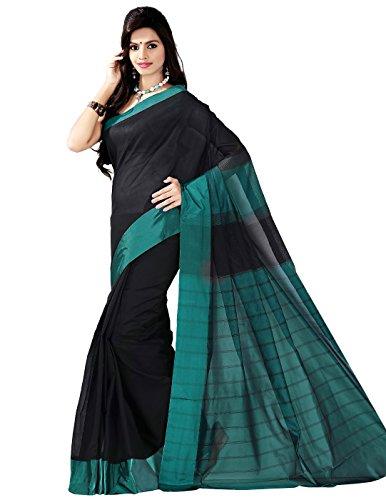 E-Vastram Women's Raw Silk Saree(MSATG_Green)