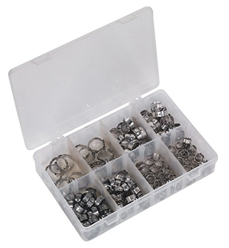 Sealey AB043SE O-Clip Single Ear Assortment 160pc Stainless, used for sale  Delivered anywhere in UK